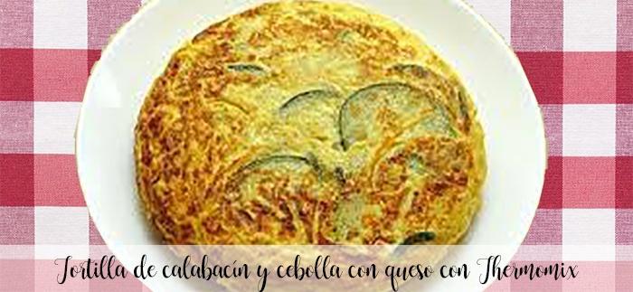 Tortilla de calabacín y cebolla con queso con Thermomix