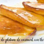 Tortitas de platano de carnaval con thermomix
