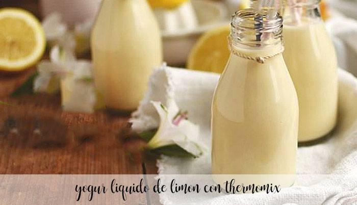 Yogur líquido de limón con Thermomix