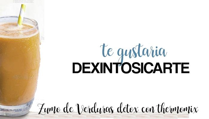 Zumo de Verduras DETOX con thermomix