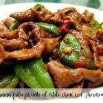 Ternera frita picante al estilo chino con Thermomix