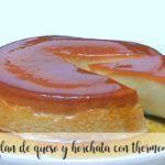 Flan de queso y horchata con Thermomix