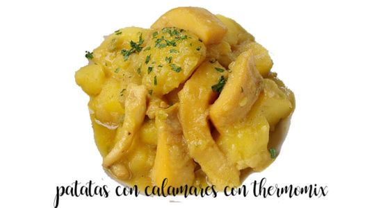 Patatas guisadas con calamares con Thermomix