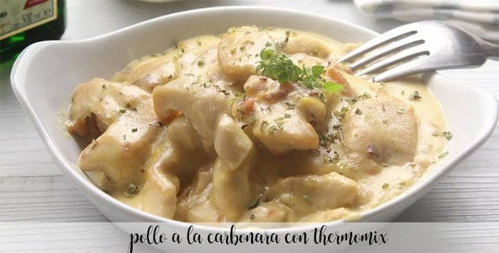 Pollo a la carbonara con thermomix