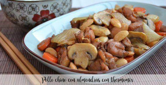 Pollo chino con almendras con thermomix