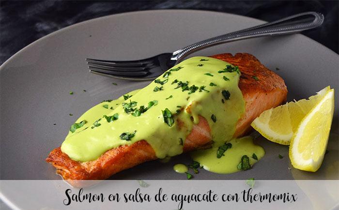 Salmon en salsa de aguacate con thermomix