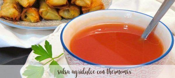 salsa agridulce con thermomix