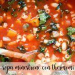 Sopa minestrone thermomix