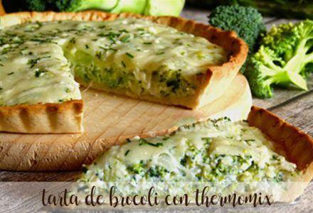 Tarta de brócoli con thermomix