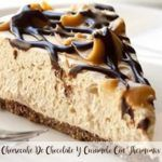 tarta de queso con chocolate y caramelo con thermomix
