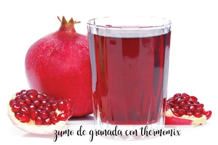 zumo de granada con thermomix