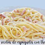 10 recetas de espaguetis con thermomix