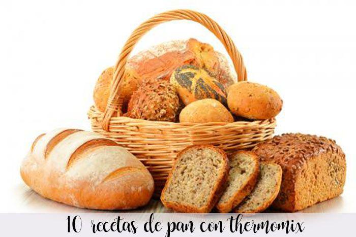 10 recetas de pan con thermomix