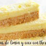 Barritas de limón y coco con thermomix