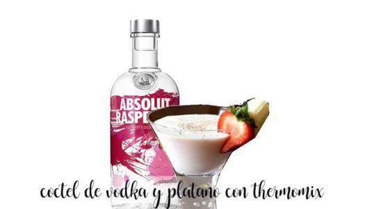 coctel de vodka y platano con thermomix
