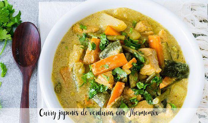 Curry japonés de verduras con Thermomix