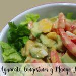 Ensalada De Aguacate, langostinos y Mango Con Thermomix