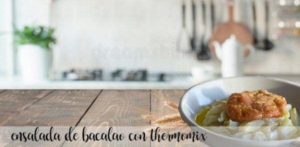 Ensalada de bacalao con tomate con Thermomix