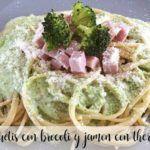 Espaguetis Con Brócoli y Jamón Con Thermomix