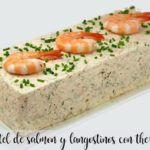 Pastel de salmón y langostinos con Thermomix