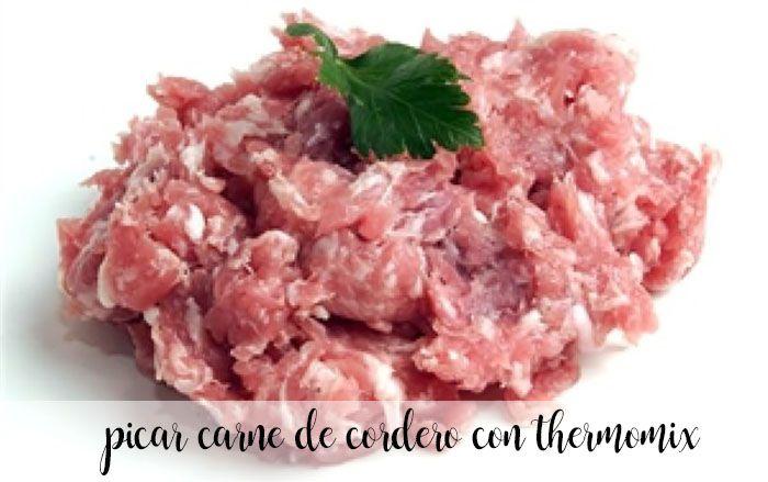 picar carne de cordero con thermomix