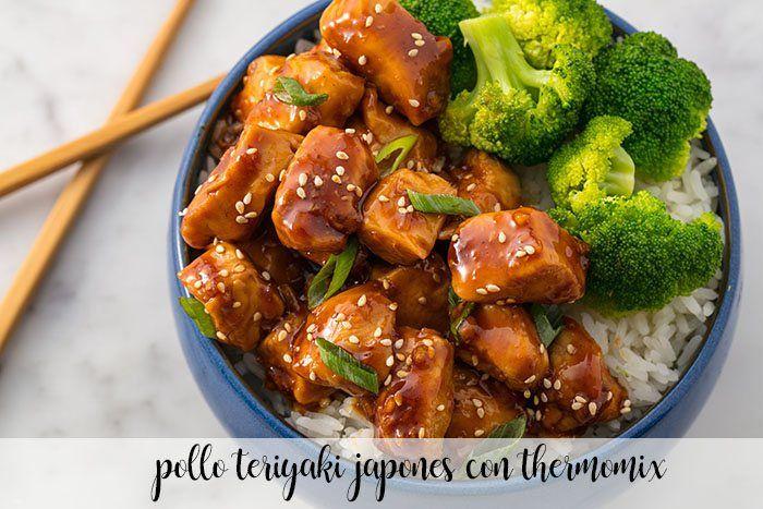 Pollo teriyaki japonés con Thermomix