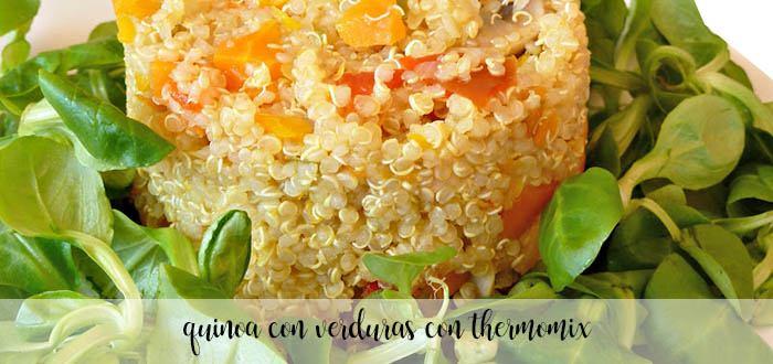 Quinoa con puerro y calabacin con thermomix