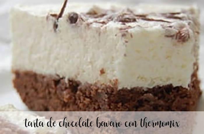 Tarta de chocolate bávaro con Thermomix