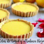 Tartaletas de limón y albahaca con Thermomix