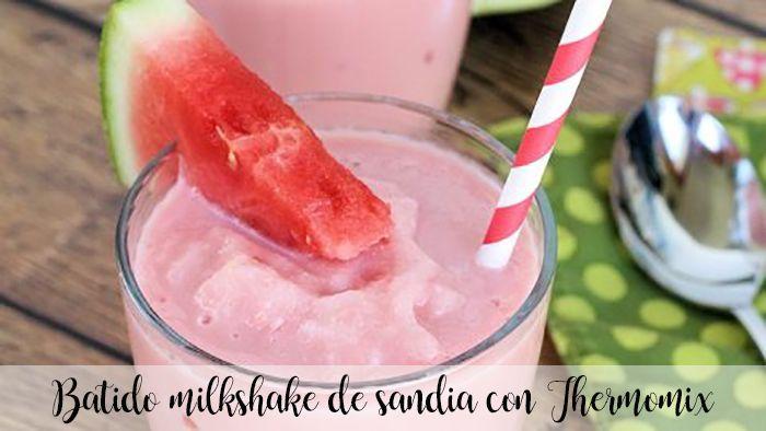 Batido milkshake de sandia con Thermomix
