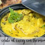 Chuleta de cerdo al curry con Thermomix