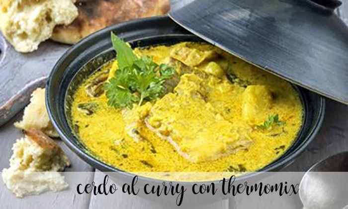 Chuleta de cerdo al curry con Thermomix