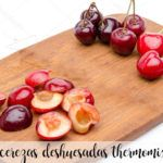 Deshuesar cerezas con thermomix