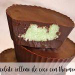 chocolate relleno de coco con thermomix
