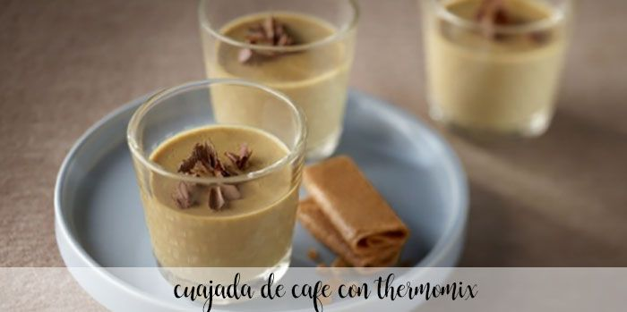 Cuajada de cafe light con thermomix