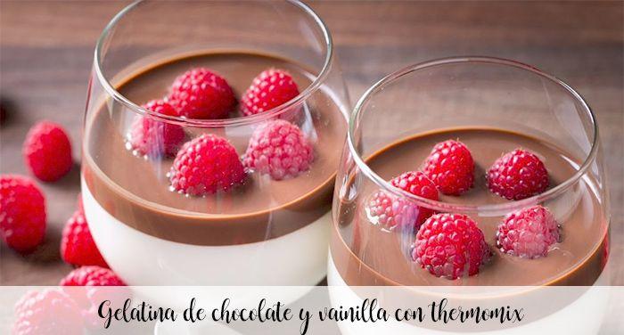 Gelatina de chocolate y vainilla con thermomix