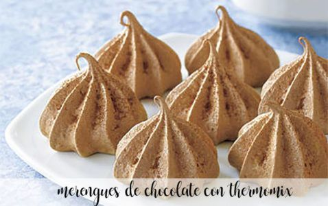 Merengues de chocolate con Thermomix