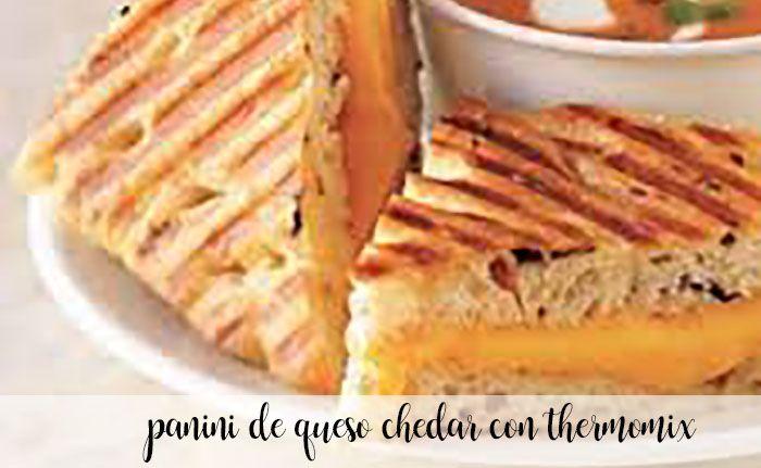 panini con queso chedar con thermomix
