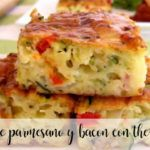 quiche parmesano y bacon con thermomix