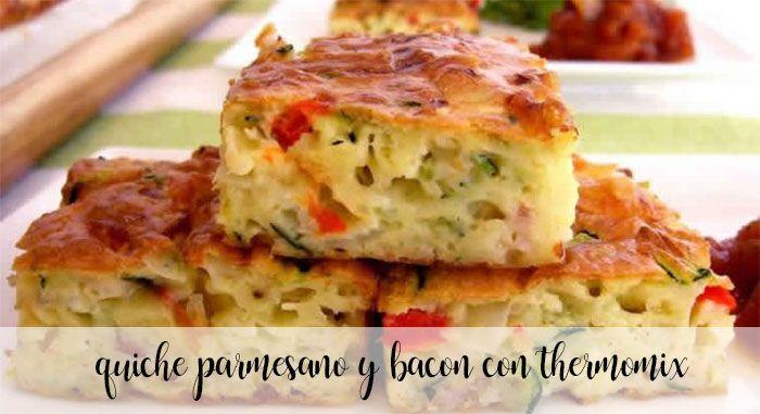 quiche parmesano y bacon con thermomix