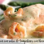 salmon con salsa de langostinos con thermomix