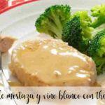Salsa de mostaza y vino blanco con thermomix