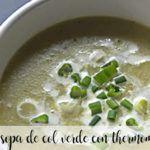 sopa de col verde con thermomix