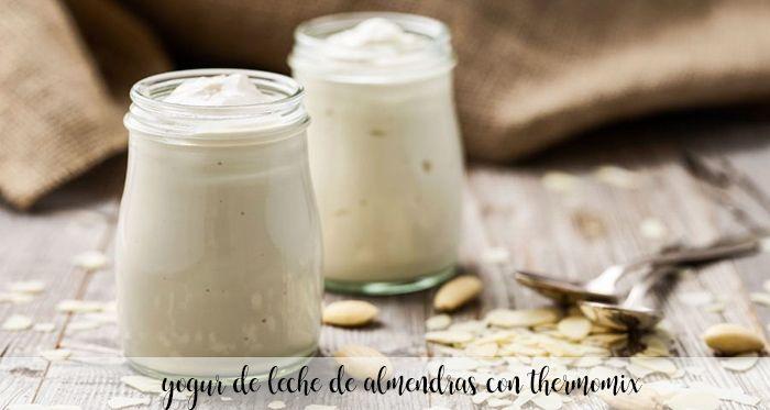 yogur de leche de almendras con thermomix