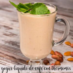 Yogur líquido de café con Thermomix