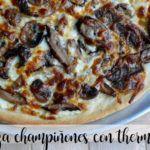 Pizza de champiñones con Thermomix