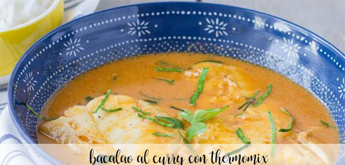 Bacalao al curry con Thermomix