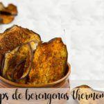 Chips de berenjena con thermomix