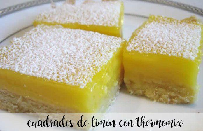 Cuadrados de limón con Thermomix