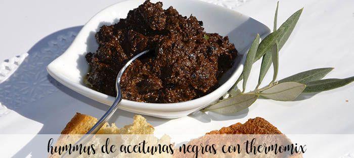Hummus de aceitunas negras Thermomix